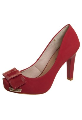 Sapato Scarpin FiveBlu Laço Verniz Vermelho