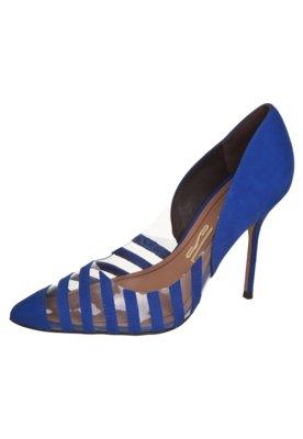 Sapato Scarpin Santa Lolla Nobuck Cobalto Azul
