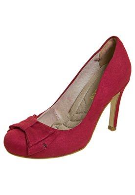 Sapato Scarpin Bebecê Bico Redondo Laço Vermelho