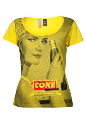 Blusa Coca-Cola Clothing Confort Always Amarela - Coca Cola ...