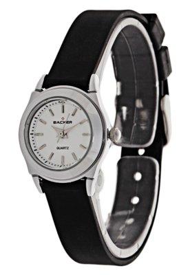 Relógio 4305121F Preto/Prata - Backer
