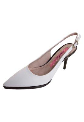 Sapato Scarpin Miucha Bico Fino Chanel Branco