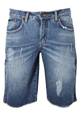 Bermuda Jeans Calvin Klein Puído Azul - Calvin Klein Jeans