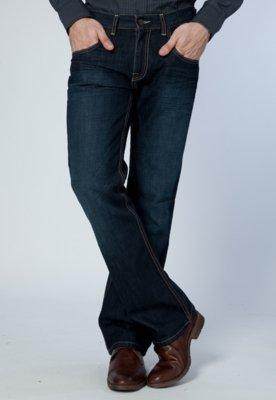 Calça Jeans Kenneth Cole Pespontos Azul