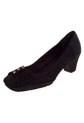Sapato Scarpin Usaflex Ponto Celeiro Laço Preto