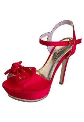 Sandália Bebecê Meia-Pata Laço Vermelha