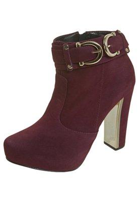 Ankle Boot Fivelas Vinho - FiveBlu