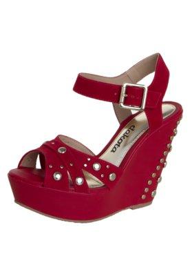 Sandália Dakota Anabela Tachas Vermelha