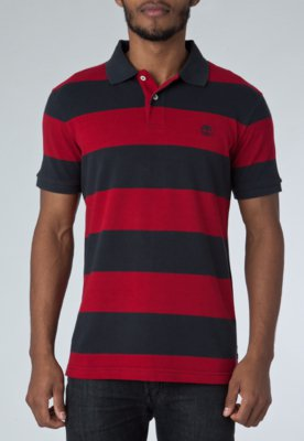 Camisa Polo Timberland Rugby Stripe Azul