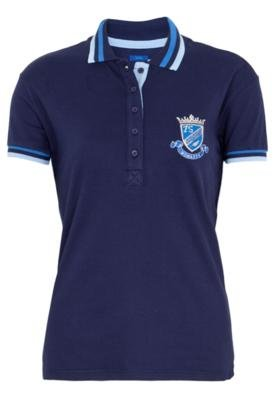 Camisa Polo Justa Blazon Azul - Triton