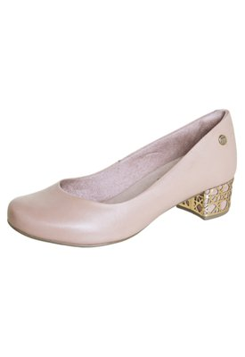 Sapato Scarpin Malu City Bege - Malu Super Comfort