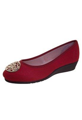 Sapato Scarpin Moleca Anabelinha Vermelho