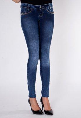 Calça Jeans Sawary Skinny Power Azul