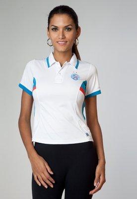 Camisa Polo Bahia Branca - Licenciados Futebol