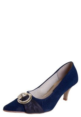 Sapato Scarpin Anna Flynn Love Azul