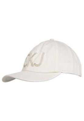 Boné Calvin Klein Name Off-White