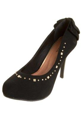 Sapato Scarpin Crysalis Laço HotFix Preto
