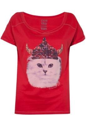 Blusa Cantão Cat Vermelha