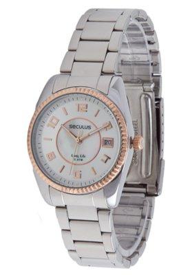 Relógio Seculus 28173LPSBGA2 Misto Ouro Prata