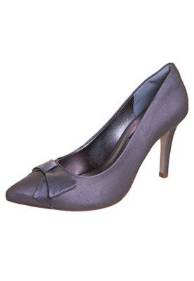 Sapato Scarpin Anna Flynn Laço Cinza