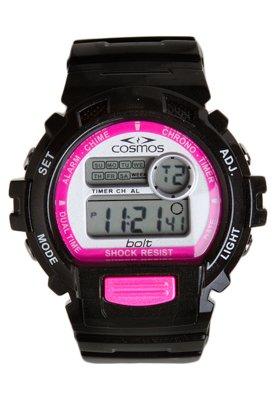 Relógio Cosmos OS41379K Preto e Rosa