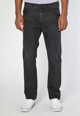 Calça Jeans Ellus Leather Denin Ly Preta