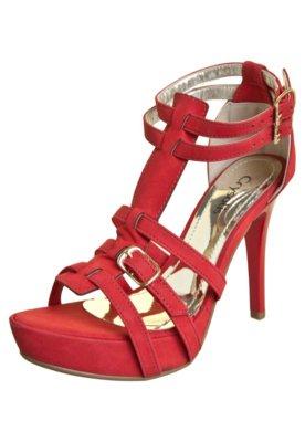 Sandália Crysalis Meia-Pata Gladiadora Vermelha