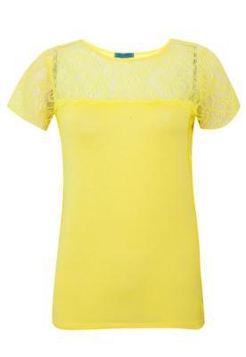 Blusa Tantan Recortes Amarela