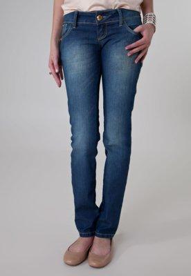 Calça Jeans Coca-Cola Clothing Elástica Skinny Bordada Azu...