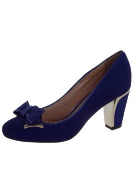 Sapato Scarpin Vizzano Laço Azul