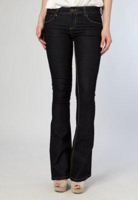 Calça Jeans TNG Boot Cut Amassados Azul
