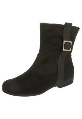 Ankle Boot Fivela Preta - Moleca