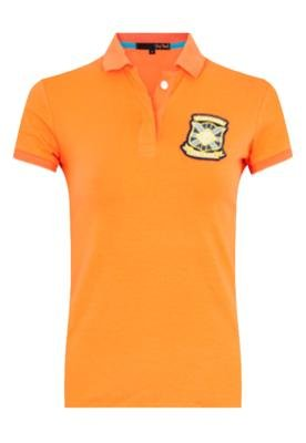Camisa Polo Pop Touch Rugby League Laranja