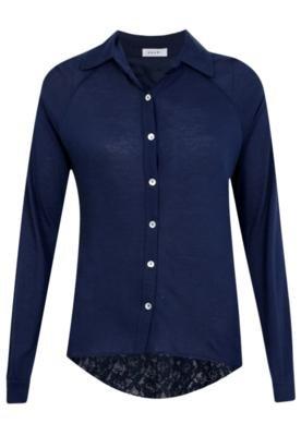 Blusa Mandi Renda Azul