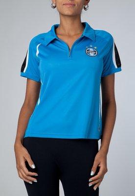 Camisa Polo Dry Grêmio Feminina Azul - Licenciados Futebol