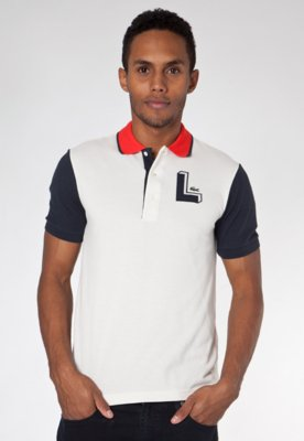 Camisa Polo Mix Bege - Lacoste