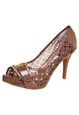 Sapato Scarpin Anna Flynn Luxury Marrom