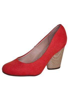 Sapato Scarpin Moleca Salto Grosso Básico Vermelho