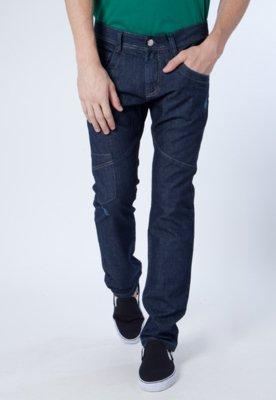 Calça Jeans Lucca Salvatore Reta Recortes Azul