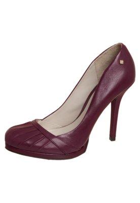 Sapato Scarpin Drapeado Vinho - Capodarte