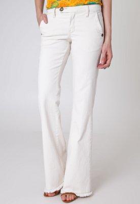 Calça Jeans Cantão Flare Square Off-White