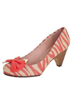 Sapato Scarpin Moleca Zebra Bege