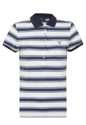 Camisa Polo Gant Melange Branca