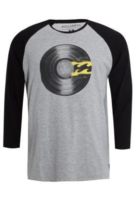 Camiseta Billabong Fashion Vinyl Cinza/Preta