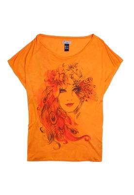 Blusa Loose Flower Girl Laranja - Colcci T