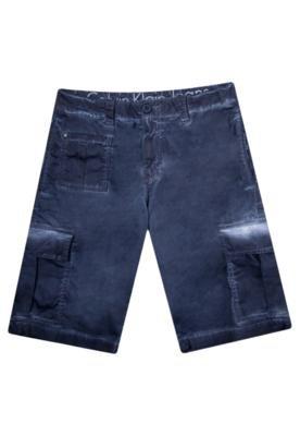 Bermuda Sarja Calvin Klein Modern Cinza - Calvin Klein Jeans