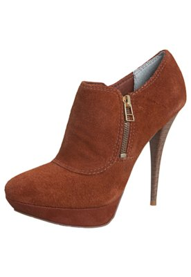 Ankle Boot Meia-Pata Caramelo - Lilly's Closet