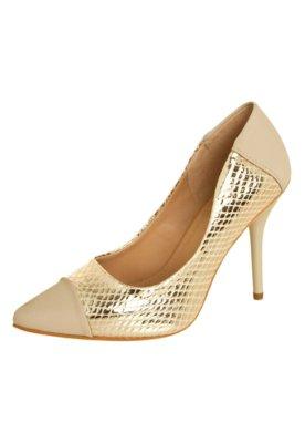 Sapato Scarpin FiveBlu Perfect Dourado