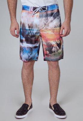 Bermuda Sarja Coca-Cola Clothing Andy Roots Multicolorida - ...