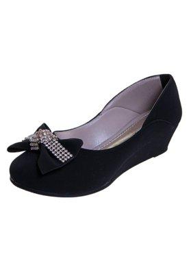 Sapato Scarpin Anna Flynn Laço Nó Preto